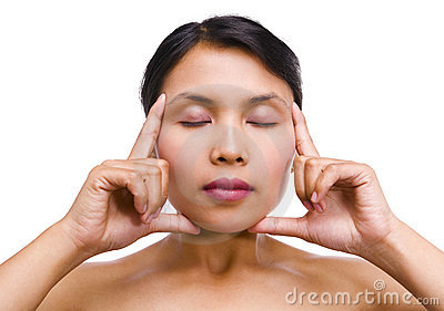 Young Asian woman in relaxation