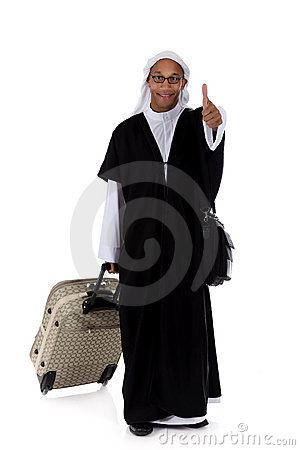Young attractive African American man, sheikh