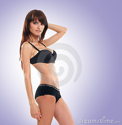 Young and attractive brunette Caucasian woman
