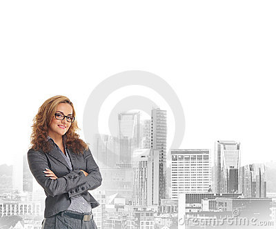 Young and attractive business woman