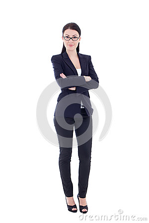 Free Young Attractive Business Woman Isolated On White Royalty Free Stock Images - 37652359