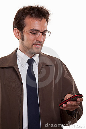 Young attractive caucasian man in business attire