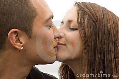 Young Attractive Couple Kissing