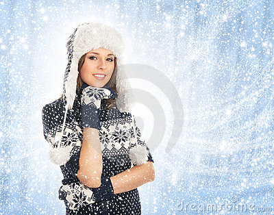 Young Attractive Girl In Scandinavian Clothes Royalty Free Stock Photography - Image: 22247987