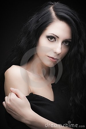 Free Young Attractive Gothic Brunette Woman Stock Photo - 22649830