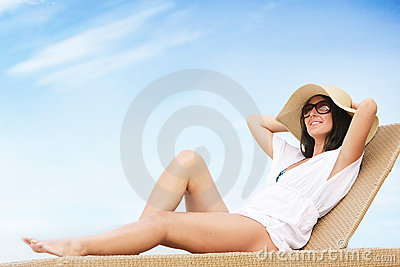 Young Attractive Woman On Beach Royalty Free Stock Image - Image: 18227056