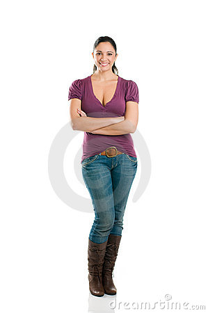 Young Attractive Woman Full Length Royalty Free Stock Photo - Image: 11863215