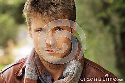 Young autumn man
