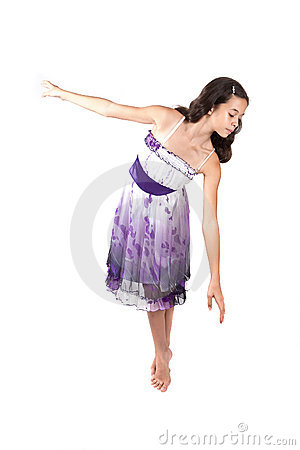 Young ballerina indress