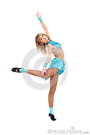 Young ballerina posing