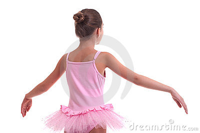 Young ballerina s back
