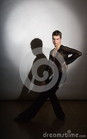 Young ballroom dancer