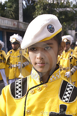 Young band majorette Editorial Stock Photo