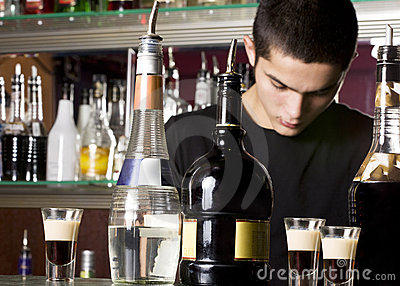 Young barman