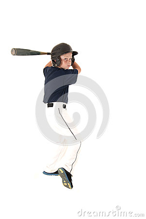 Free Young Baseball Player Batting Waiting For A Pitch Stock Photo - 39676580
