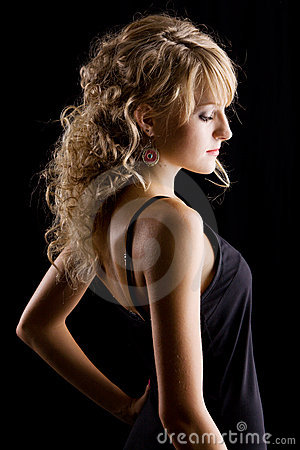 Young beautidul woman studio portrait