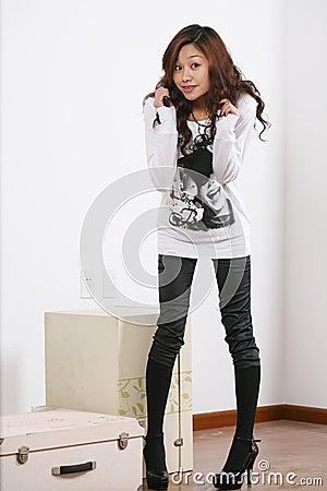 Young beautiful asia girl