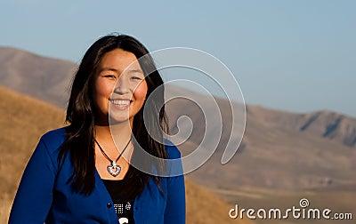 Young beautiful asian girl