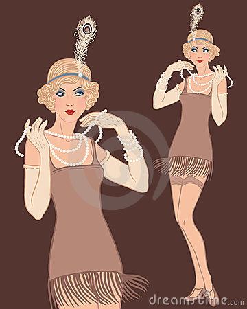 Young beautiful blonde woman 20 s style.