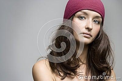 Young beautiful brunette posing,