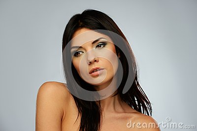 Young beautiful brunette woman