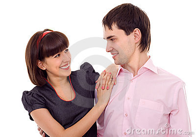 Young beautiful couple laughing