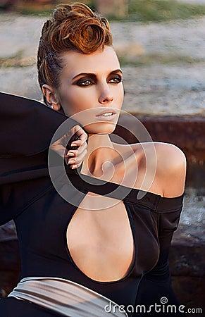 Young beautiful fashion model