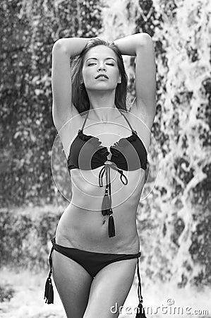 Young and beautiful girl in bikini
