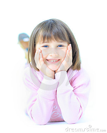 Free Young Beautiful Girl Child Smiles Royalty Free Stock Photos - 22992538