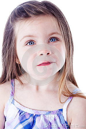 Young beautiful girl portrait