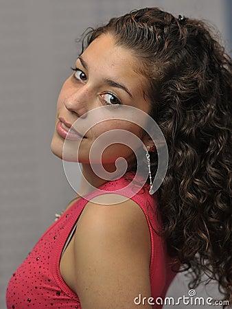 Young and beautiful latin girl