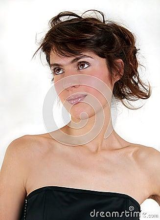 Young beautiful sexy brunette woman