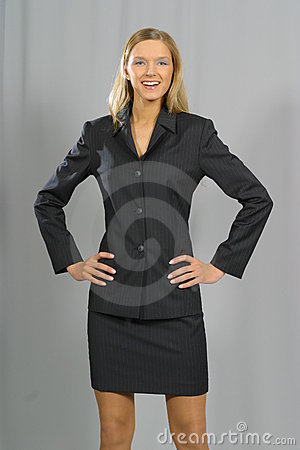 Young beautiful smiling business woman