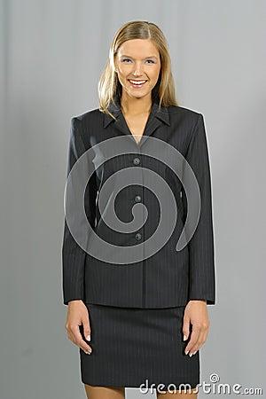 Young beautiful smiling business woman