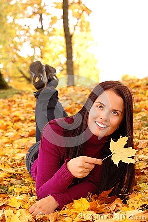 Young beautiful woman in the park
