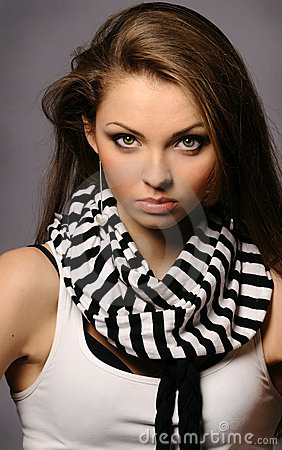 Young beautiful woman with perfect natural makeup