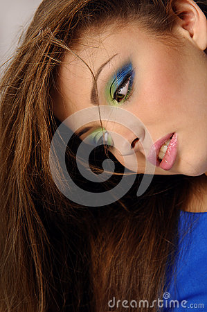 Young beautiful woman with perfect natural makeup