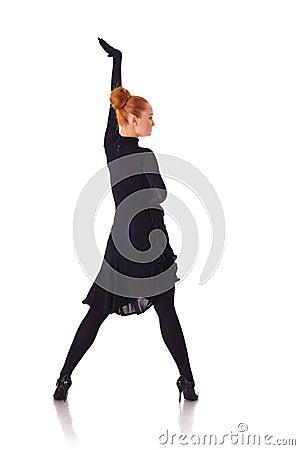 Young beauty dancer on high heels