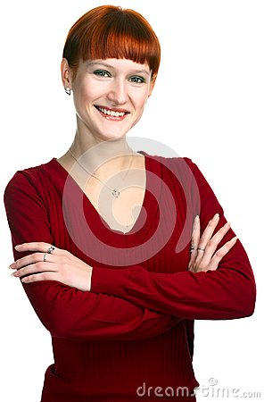Young beauty redhaired girl