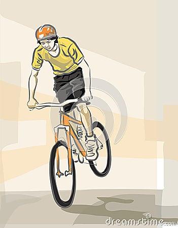 Young biker