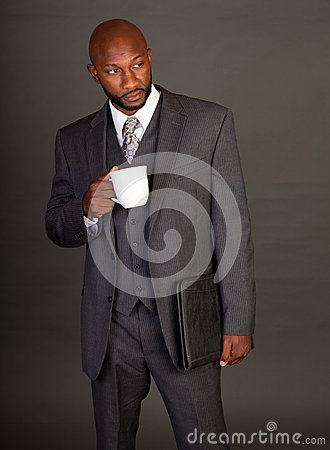 Free Young Black Business Man Stock Photo - 25756230