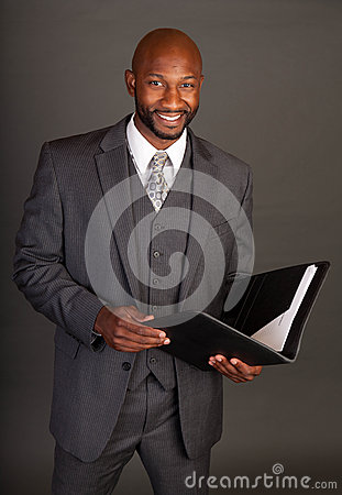 Free Young Black Business Man Royalty Free Stock Photography - 25756237