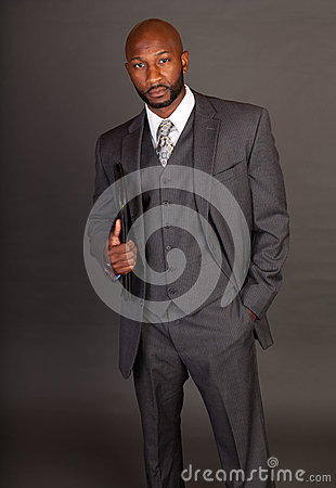 Free Young Black Business Man Royalty Free Stock Images - 25756239