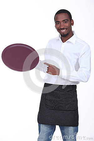 Young black waiter