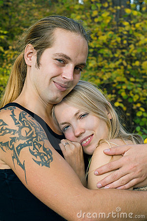 Young blond couple