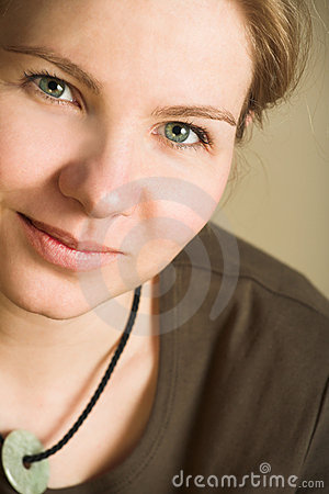 Young blonde adult caucasian woman