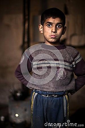 Young boy, Aleppo. Editorial Stock Image