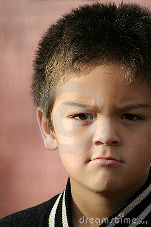 Free Young Boy Angry Royalty Free Stock Photo - 45565