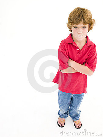 Young boy with arms