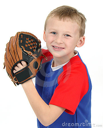 Young Boy with Baseball Glove